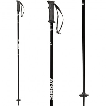 Atomic AMT Black White Ski Poles